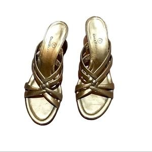 Cole Haan Strappy Gold Sandals